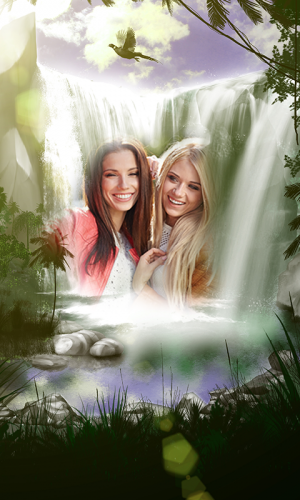 Androidアプリ「Waterfall Photo Frames」のスクリーンショット 2枚目