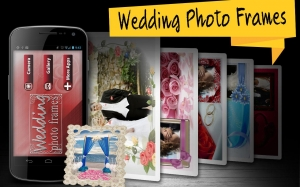 Androidアプリ「結婚式フレームフォトエディタ」のスクリーンショット 1枚目