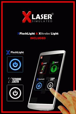 Androidアプリ「X-レーザー モバイルXレーザーポインター」のスクリーンショット 2枚目
