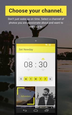 Androidアプリ「Newday Photo Alarm Clock」のスクリーンショット 2枚目