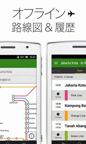 Androidアプリ「Transit ジャカルタ KRL by NAVITIME」のスクリーンショット 3枚目