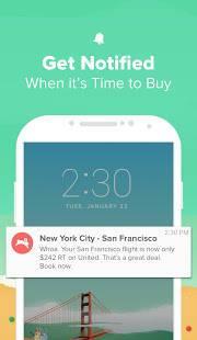 Androidアプリ「Hopper - フライトの監視と予約」のスクリーンショット 4枚目