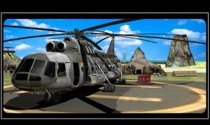 Androidアプリ「陸軍ヘリコプター - 救助貨物」のスクリーンショット 1枚目
