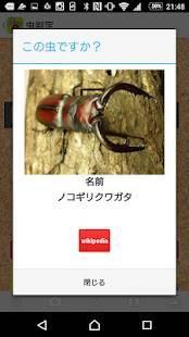 Androidアプリ「昆虫判定機」のスクリーンショット 4枚目