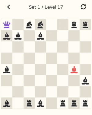 Androidアプリ「No More Kings - Chess Puzzle」のスクリーンショット 1枚目