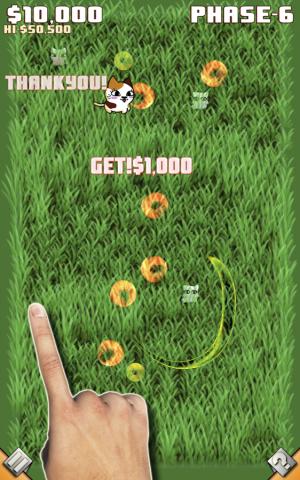 Androidアプリ「草むらドカン猫!」のスクリーンショット 1枚目