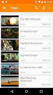 Androidアプリ「VLC for Android」のスクリーンショット 1枚目