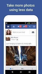 Androidアプリ「Facebook Lite」のスクリーンショット 2枚目