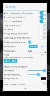 Androidアプリ「Timestamp Camera Pro」のスクリーンショット 5枚目