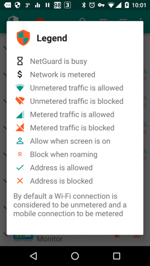 Androidアプリ「NetGuard - no-root firewall」のスクリーンショット 4枚目