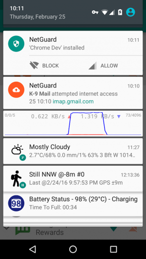 Androidアプリ「NetGuard - no-root firewall」のスクリーンショット 5枚目