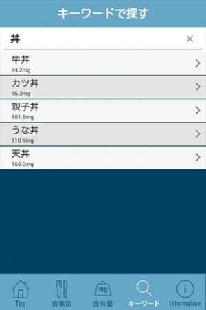 Androidアプリ「俺のプリン体 早わかりガイド」のスクリーンショット 5枚目