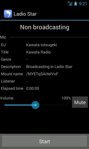 Androidアプリ「Ladio Star」のスクリーンショット 1枚目