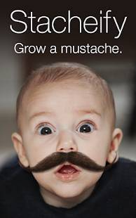 Androidアプリ「Stacheify - Grow a Mustache」のスクリーンショット 1枚目