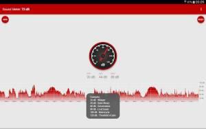 Androidアプリ「騒音測定器」のスクリーンショット 4枚目