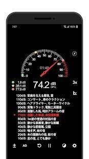 Androidアプリ「騒音測定器 (Sound Meter)」のスクリーンショット 2枚目