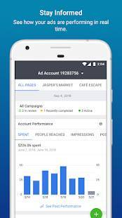 Androidアプリ「Facebook広告マネージャ」のスクリーンショット 2枚目