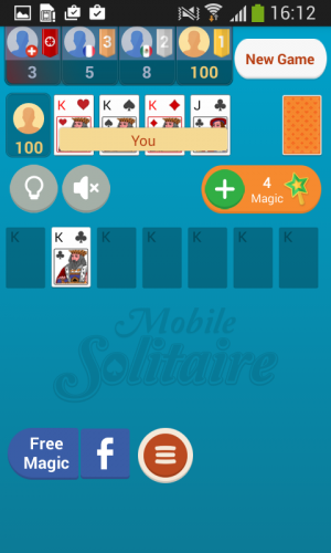 Androidアプリ「Mobile Solitaire」のスクリーンショット 1枚目