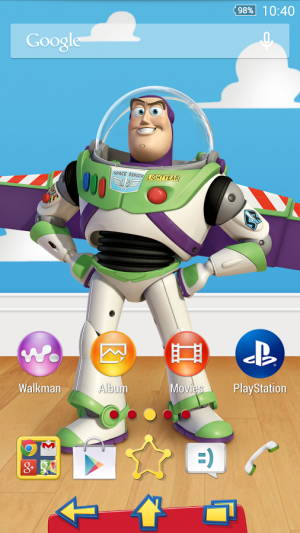 Androidアプリ「XPERIA™ Toy Story Buzz Theme」のスクリーンショット 1枚目