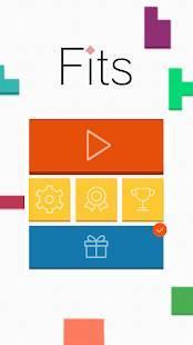 Androidアプリ「頭が良くなるブロック パズル Fits #無料パズルゲーム」のスクリーンショット 2枚目