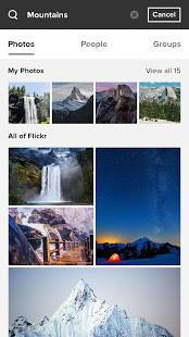 Androidアプリ「Flickr」のスクリーンショット 2枚目