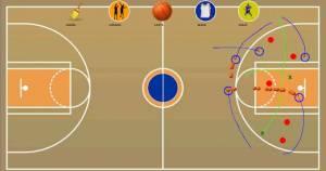 Androidアプリ「戦術的なボード - バスケットボール」のスクリーンショット 1枚目