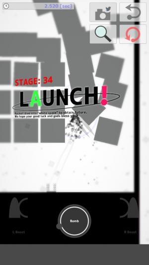 Androidアプリ「イライラ&爽快ロケットアクション : 量産ロケット!」のスクリーンショット 2枚目