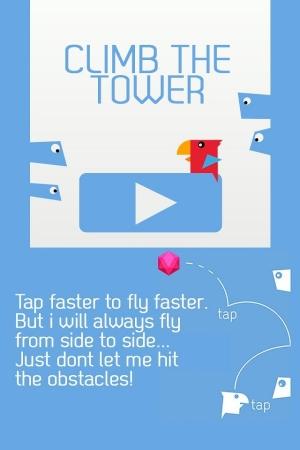 Androidアプリ「Bird Climb - バードクライマー」のスクリーンショット 1枚目