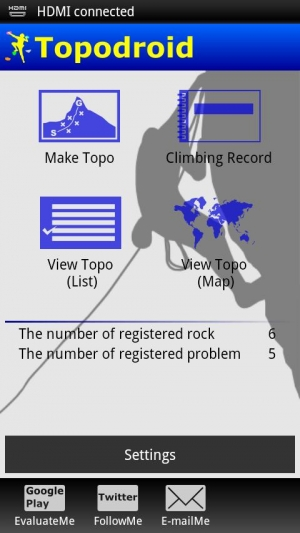 Androidアプリ「Topodroid For Rock Climber」のスクリーンショット 1枚目