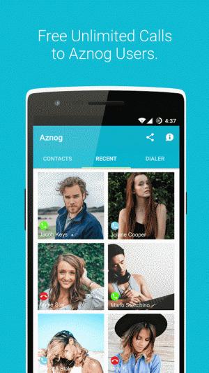 Androidアプリ「Aznog - Free Phone Calls」のスクリーンショット 3枚目