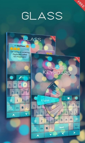 Androidアプリ「Free Z Glass GO Keyboard Theme」のスクリーンショット 5枚目