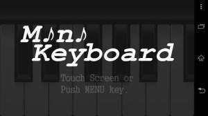 Androidアプリ「ミニキーボード」のスクリーンショット 1枚目