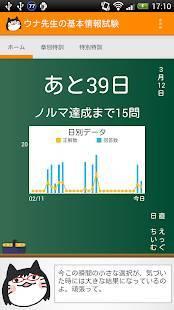 Androidアプリ「ウナ先生の基本情報技術者試験」のスクリーンショット 1枚目