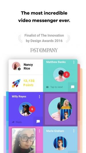 Androidアプリ「Tribe - Video Messenger」のスクリーンショット 1枚目