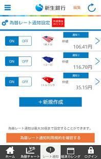 Androidアプリ「新生銀行 外貨預金アプリ」のスクリーンショット 3枚目