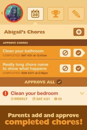 Androidアプリ「ChoreMonster」のスクリーンショット 3枚目