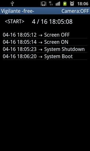 Androidアプリ「Vigilante ~盗み見記録~ -free-」のスクリーンショット 1枚目