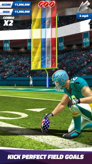 Androidアプリ「Flick Field Goal 17」のスクリーンショット 4枚目