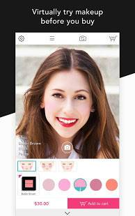 Androidアプリ「YouCam Shop - World's First AR Makeup Shopping App」のスクリーンショット 1枚目