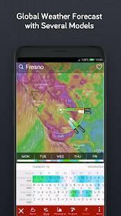 Androidアプリ「Windy: 風、波とハリケーン予測」のスクリーンショット 4枚目