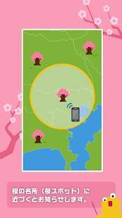 Androidアプリ「桜のきもち - 桜の状態や開花・満開予想日がわかる!」のスクリーンショット 2枚目