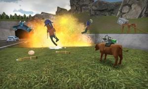 Androidアプリ「模擬雄牛 - Bull Simulator 3D」のスクリーンショット 1枚目