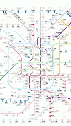 Androidアプリ「大阪地下鉄路線図」のスクリーンショット 1枚目