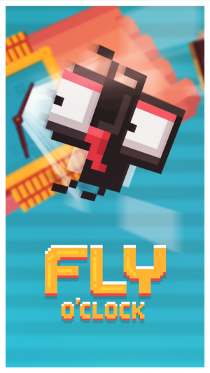 Androidアプリ「Fly O'Clock - Endless Jumper」のスクリーンショット 1枚目