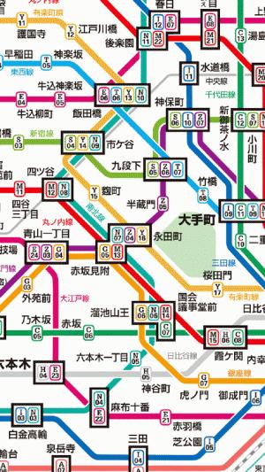 東京地下鉄路線図 - Appliv
