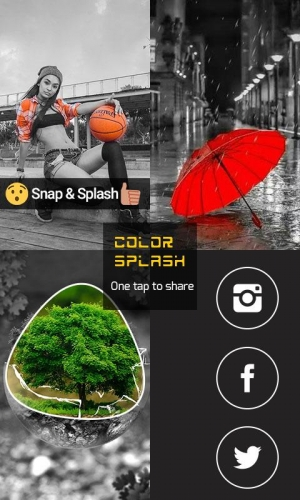 Androidアプリ「Color Splash Snap Photo Effect」のスクリーンショット 5枚目