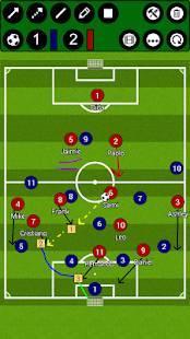 Androidアプリ「サッカー戦術ボード」のスクリーンショット 1枚目