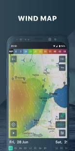 Androidアプリ「Windy.app:セーリングや釣りの風と波の予測。 詳細な天気情報」のスクリーンショット 1枚目