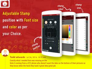 Androidアプリ「写真用オートスタンパー」のスクリーンショット 5枚目
