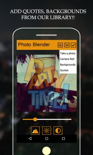 Androidアプリ「写真ブレンダー - インスタントブレンド」のスクリーンショット 2枚目